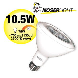 NOSER High Performance LED-PAR30, 10.5W, 38°, IP54, warmweiss, Art. Nr. 927.115