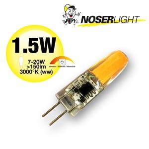 NOSER LED Stiftsockel G4, 1.5W,  150lm, 12V, 3000°K - warmweiss, dimmbar