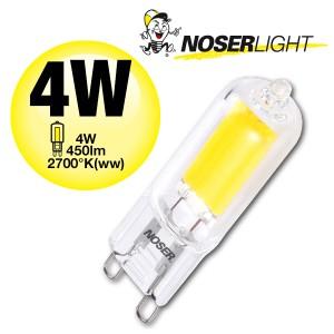 NOSER LED-Stiftsockel G9, 4W, 450lm 220-240V, ~50/60Hz, 2700K
