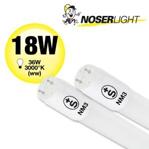 NOSER T8 LED Röhre, 1:1 Retrofit, 120cm, 3000°K warmweiss