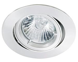 Einbauleuchte rund, geeignet fuer  MR16 51mm - max. 50W- Halogen und LED MR16 Retrofit, Farbe weiss, verstellbar
