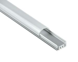 Aluprofil extra breit 1000x24.9x13.9mm, inkl. Abdeckung und Endkappen