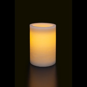 Flat Candle S, ivory