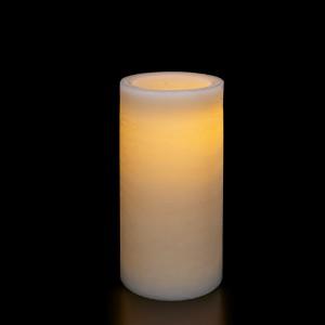 Flat Candle M, ivory