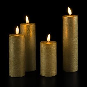 Flat Candle Set gold