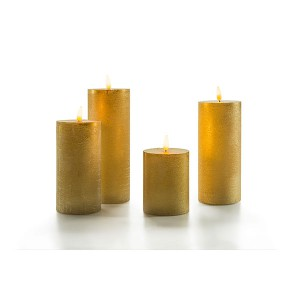 Flat Candle Set large gold