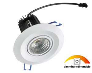 NOSER LED Einbauleuchte / COB-LED Downlight, dimmbar, 10W, warmweiss, Art. Nr. COBDL10-WW