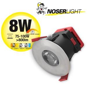 NOSER COB-LED Downlight stahl gebürstet, dimmbar, 8W, >800lm,         Art. Nr. COBDLSG08-CCT