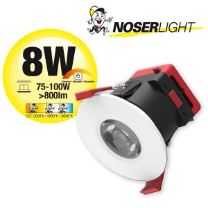 NOSER COB-LED Downlight weiss, dimmbar, 8W, >800lm,         Art. Nr. COBDLW08-CCT