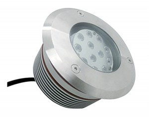 NOSER LED Bodeneinbauleuchte, verstellbar 20°, rund, 12W, 810-850lm, 24VDC, IP67, 2700-3000°K - warmweiss