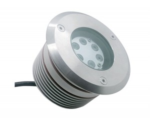 NOSER LED Bodeneinbauleuchte, verstellbar 20°, rund, 6W, 480-540lm, 24VDC, IP67, 2700-3000°K - warmweiss, Art.-Nr. CTLED6W-WW