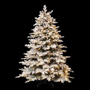 LED Snowed Tree 220, 610LED ww, H220cm grün 31V/6W -  5m Kabel, indoor, weiss, , warmweiss,