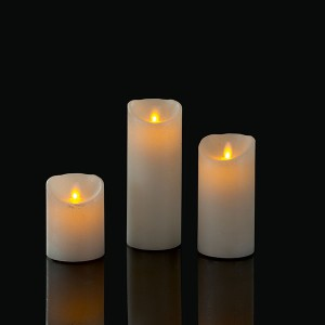 LED Set Wax Candle weiss