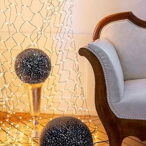 Angel Net schwarz, 800LED sww, 2x3m, 31V/15W - 5m Kabel, indoor&outdoor, schwarz, sunny-ww