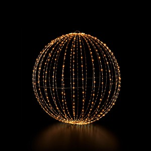 Royal Ball L, schwarz, 1200LED sww, D80cm, foldable, 12V/15W - 5m Kabel, indoor&outdoor, schwarz, sunny-ww