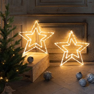 Acrylic Star, 100LED ww, D50cm, clear, 3.5V/3.6W - 5m Kabel , indoor&outdoor, clear, warmweiss,
