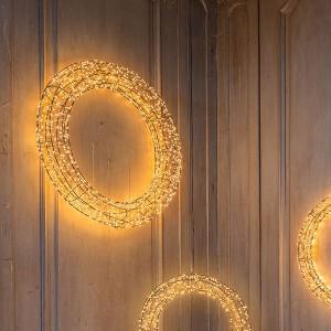 Angel Wreath Nero , 1800LED sww, D78x9cm, schwarz, 12V/15W- 5m Kabel , indoor&outdoor, schwarz, sunny-ww