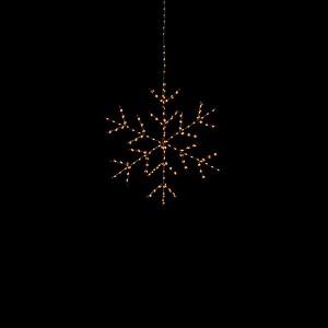 Angel Flake Nero , 255LED sww, D30cm, schwarz, 4.5V/6W - 5m Kabel, indoor&outdoor, schwarz, sunny-ww