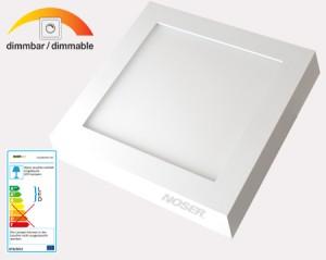 NOSER LED Wandleuchte / Deckenleuchte quadratisch, 36W, 2700lmadratisch, 36W, 2700lm, kaltweiss