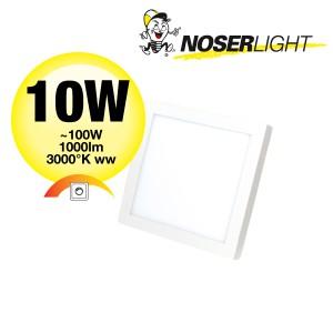 NOSER LED Wandleuchte / Deckenleuchte quadratisch, 10W, 1000lm