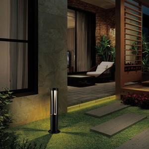 LED Aussenleuchte FARO, 80cm, schwarz, IP65, warmweisses Licht