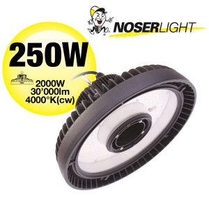 NOSER Highbay LED-Strahler IP65, 250W, 30'000lm, 4000K - kaltweiss, CRI>80, Art.-Nr. HB250