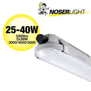 LED Nassraumleuchte IP66, IK08, 25-40W, ~5200lm, CCT