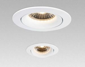 Einbauleuchte zu NOSER LED Modulen MLED0640-MLED1740 weiss, Durchmesser 85mm