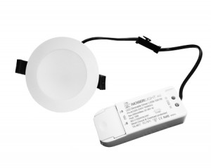NOSER LED Downlight dimmbar, weiss, 10W, 1000lm, CCT: 3000°K/4000°K/5700°K, inkl. Driver, Art.-Nr. DL4911-CCT