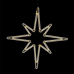 LED Swiss Star, ww, 120cm, weiss, 230V/39.15W, indoor&outdoor, warmweiss,