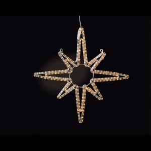 LED Swiss Star, warmweiss