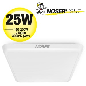 NOSER LED Deckenleuchte / Wandleuchte dimmbar, quadratisch, weiss, 25W, 3000°K, warmweiss