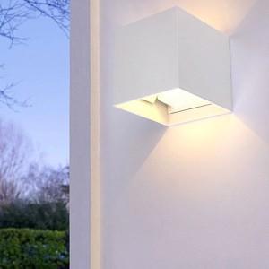 NOSER LED Wandleuchte CUBETTINO mit Bewegungsmelder, IP65, weiss