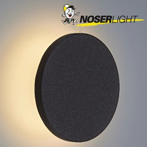 "LED Wandleuchte ""MOON"", schwarz matt, IP65, warmweisses Licht Art-Nr WLB100510W"
