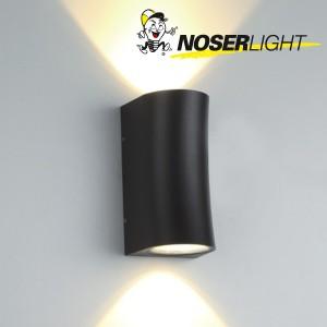 "LED Wandleuchte ""PIPE"", schwarz matt, IP65, warmweisses Licht Art-Nr WLB100562W"
