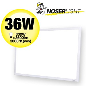 NOSER LED PRO-SERIES 36W, 3700lm, CRI>80, 120°, 300x600mm, Art. Nr. XPL-3060WW
