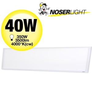 NOSER LED Panel, 40W, 3500lm, CRI>80, 110°, 300x1200mm, Art. Nr. XPL30120-NW