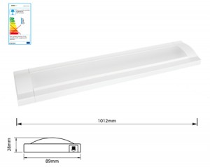 NOSER LED Flat Leuchte weiss 10.8W, 3000°K