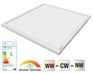 NOSER LED Panel CCT, 36W, 3000lm, CRI>80, 110°, 60x60cm, Art. Nr. XPLA6060-CCT