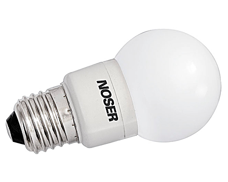 NOSER LED E27 G50 Tropfenlampe,1W, 240V, GRÜN, IP44