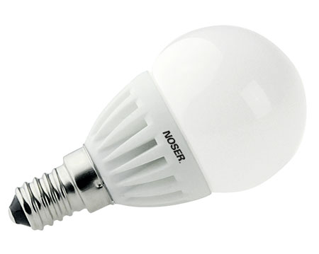 NOSER LED E14 G45 Tropfenlampe matt, 3W, E14, 220-240V, warmweiss