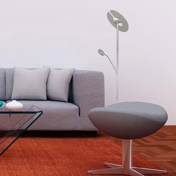 LED Stehleuchte Pesaro mit Lesearm und Deckenfluter