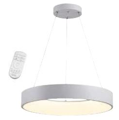 Steuerbare LED Pendelleuchte CAMERON, weiss