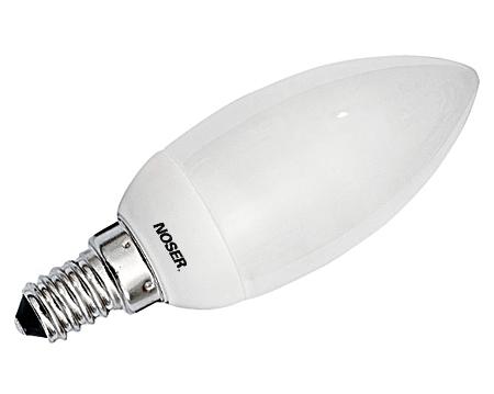 NOSEC-Kz Mini 9W 300lm, E14,  827 - 2700K- warmweiss