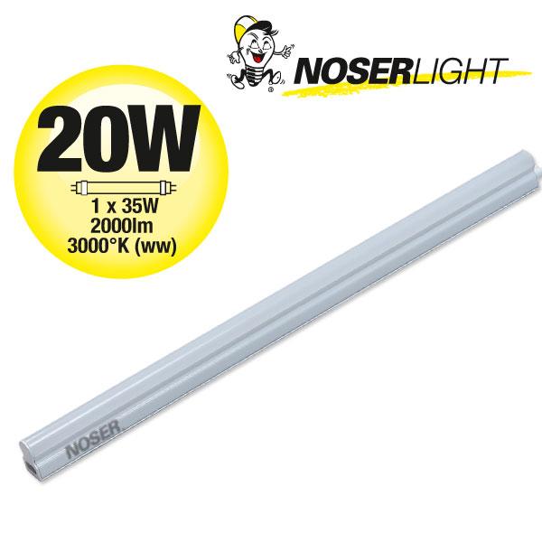 T5 LED Armatur 20W, 2000lm, 3000°K, warmweiss, 1200mm