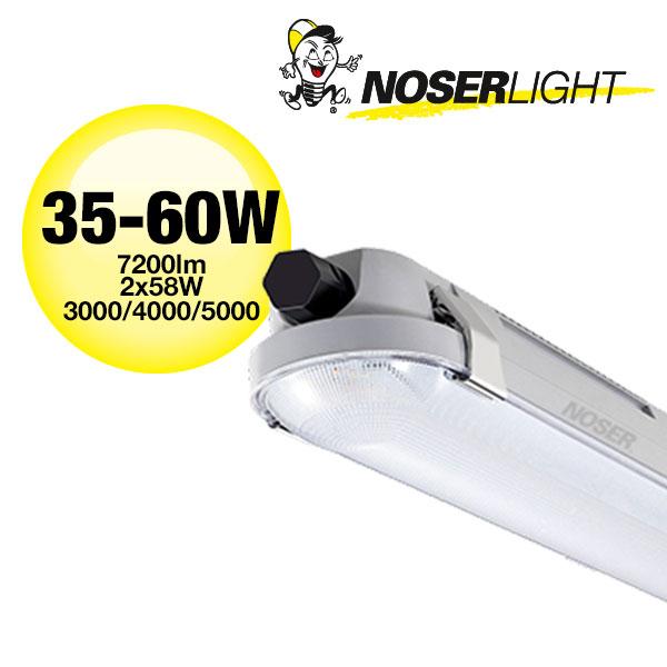 LED Nassraumleuchte IP66, IK08, 35-60W, ~7200lm, CCT