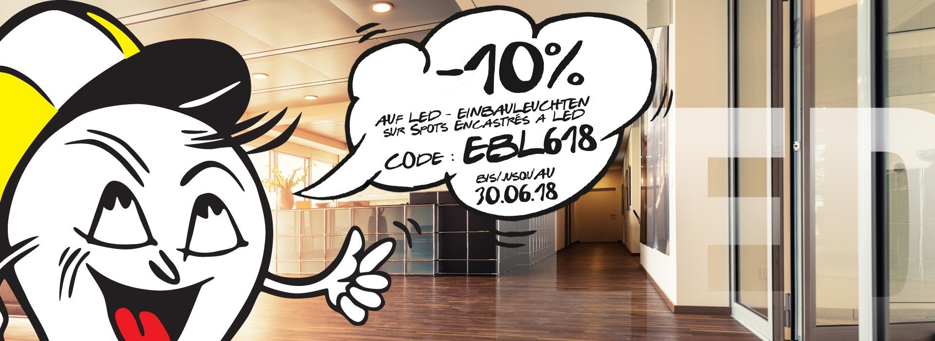 -10% auf LED Einbauleuchten